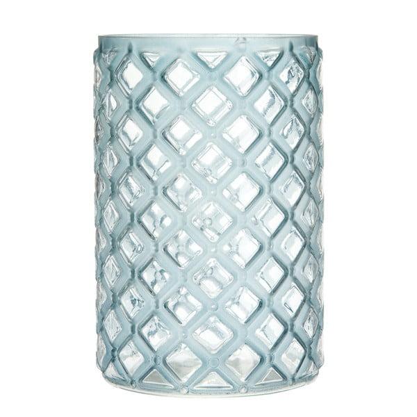 Lucerna Cylinder Check Blue, 20 cm