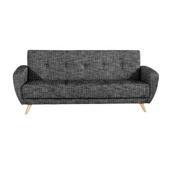 Canapea cu 3 locuri extensibilă Max Winzer Jerry alb-negru