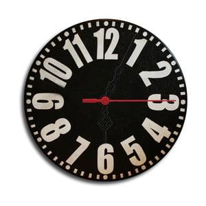 Nástěnné hodiny Back To Black, 30 cm