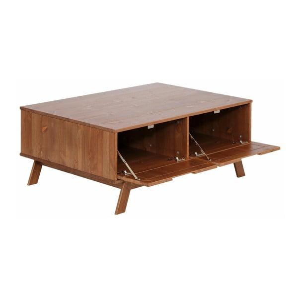 Hnědý dřevěný konferenční stolek Støraa Olly