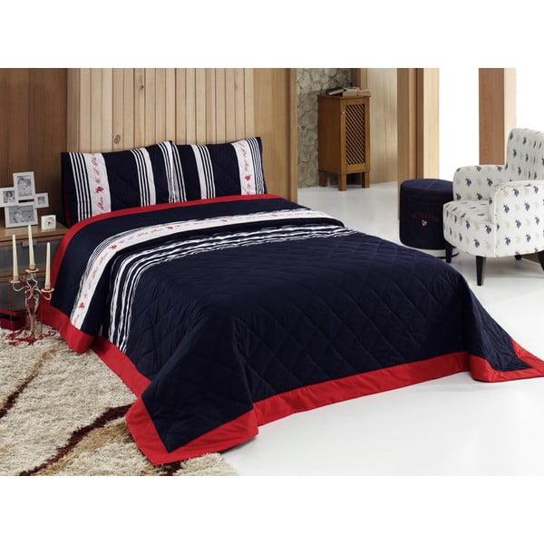 Sada přehozu přes postel a 2 polštářů U.S. Polo Assn. Waldport, 240x250 cm