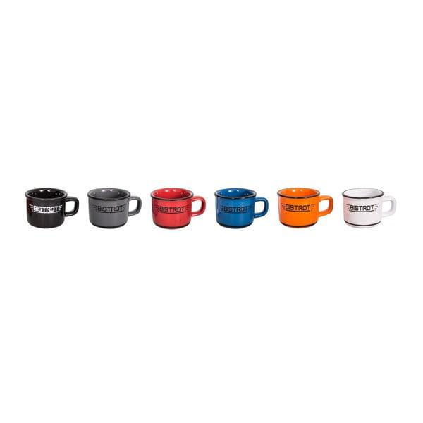 Zestaw 6 ceramicznych filiżanek do espresso Antic Line Bistrot