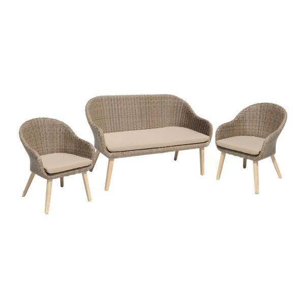 Pueblo 2 darab kerti fotel és ülőpad szett - ADDU