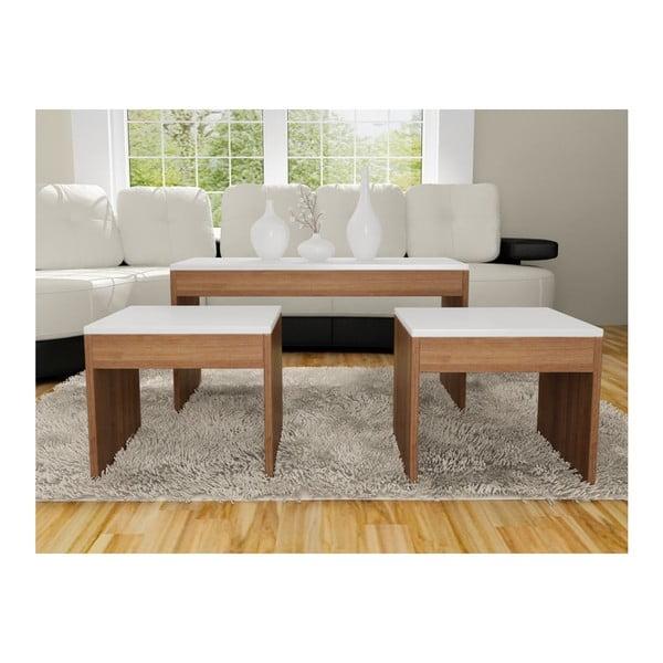 Konferenční stolek se 2 stoličkami Sebboy Walnut