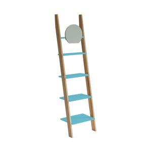 Tyrkysová opěrná police se zrcadlem Ragaba Ashme Ladder