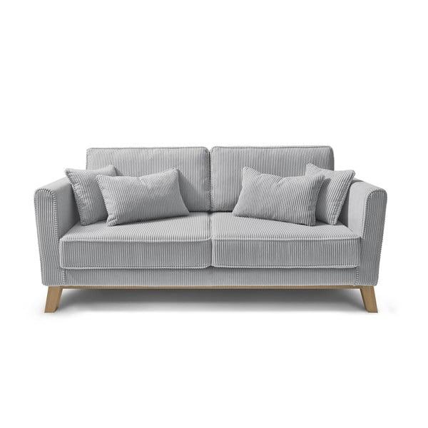 Canapea cu 3 locuri Bobochic Paris DOBLO, gri deschis