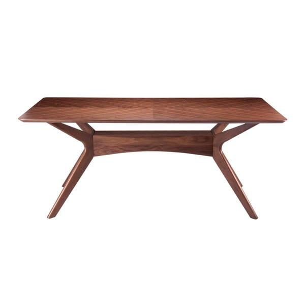 Masă cu elemente din lemn de nuc sømcasa Helga, 180 x 95 cm