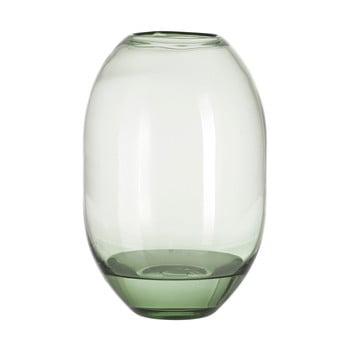 Vază din sticlă A Simple Mess Hedge, înălțime 29 cm, verde de la A Simple Mess