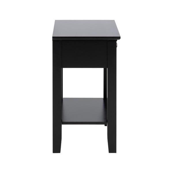 Černý noční stolek s 1 šuplíkem Actona Linnea