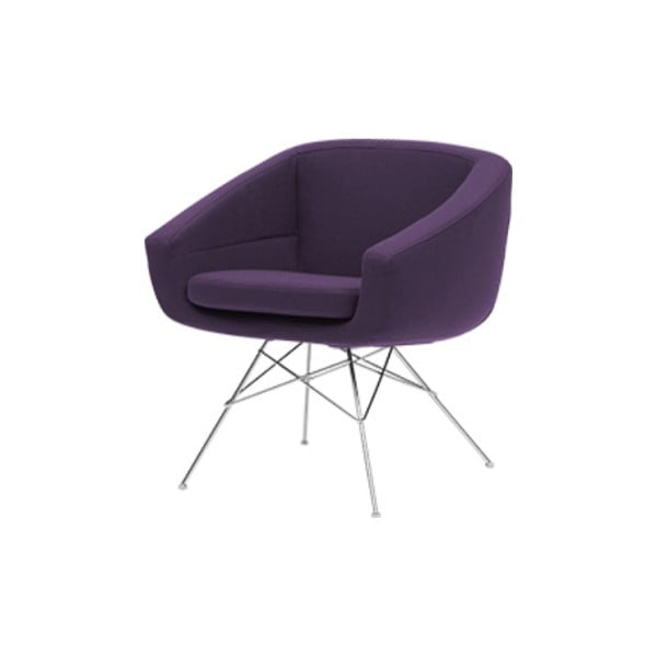 Fioletowy fotel Softline Aiko Eco Cotton Lilac