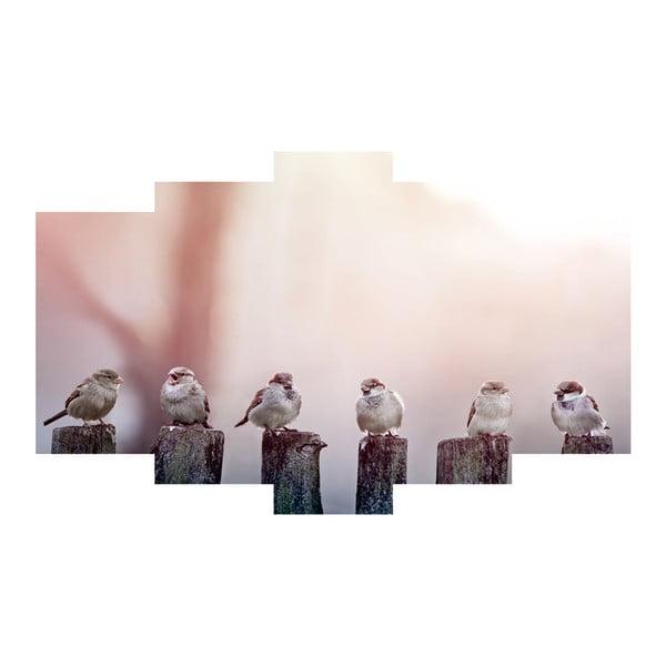 5dílný obraz Birds