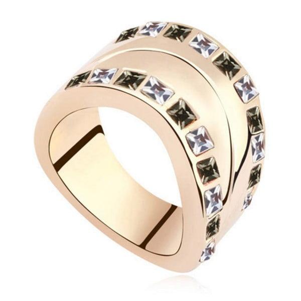 Josephine aranyozott gyűrű Swarovski kristályokkal, mérete 52