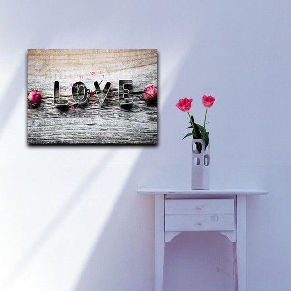Obrazové hodiny Milující, 29 x 40 cm