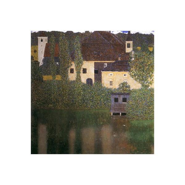 Reprodukce obrazu Gustav Klimt - Water Castle, 50 x 50 cm
