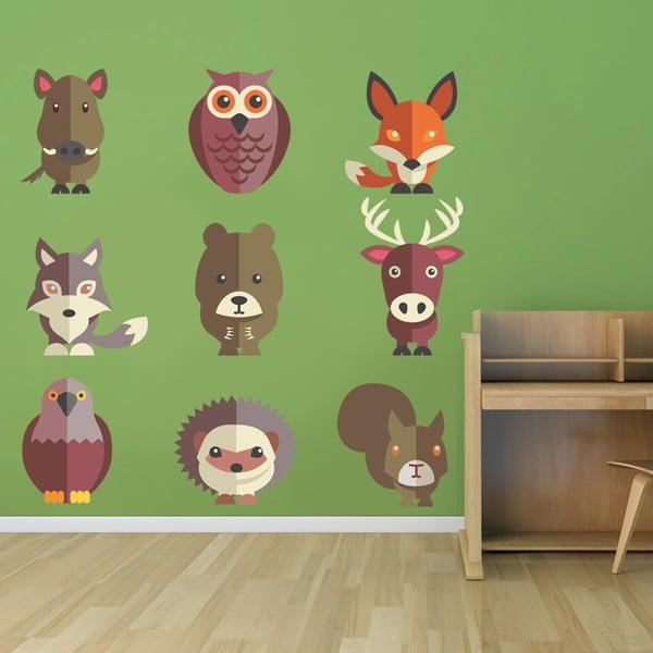Samolepka na stěnu Lesní zvířátka, 50x70 cm