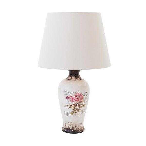 Keramická stolní lampa Pink Roses