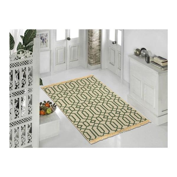 Zelenobéžový koberec Ya Rugs Kenar, 120x180cm