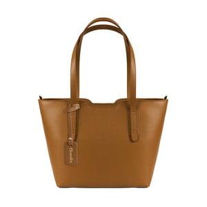 Hnědá kožená kabelka Maison Bag Alicia