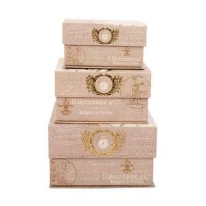Sada 3 úložných krabic Timeless