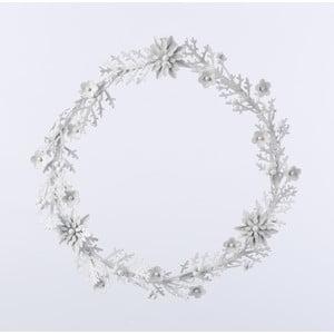 Kovový věnec Wreath, bílý
