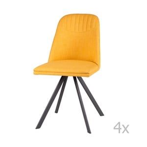 Sada 4 žlutých jídelních židlí sømcasa Cris