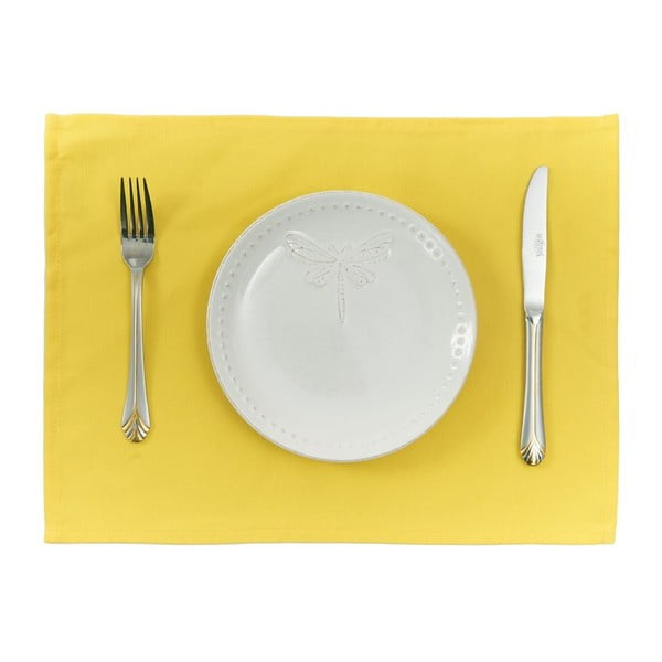 Sada 2 žltých prestieraní Apolena Simply Yellow, 33 × 45 cm