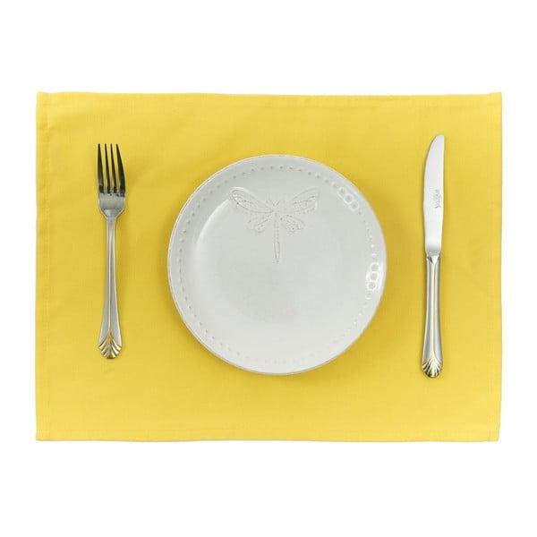 Set 2 suporturi pentru farfurie Apolena Simply Yellow, 33 x 45 cm, galben