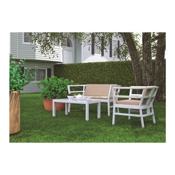 Bílé zahradní křeslo Resol Click-Clack