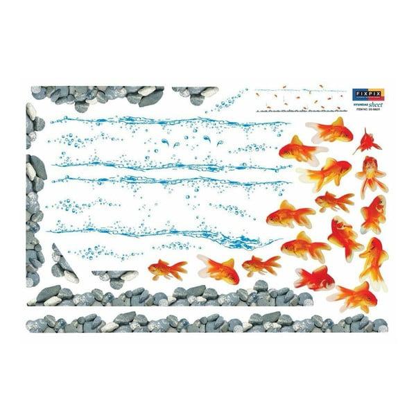Sada 16 samolepek Ambiance Red Fishes