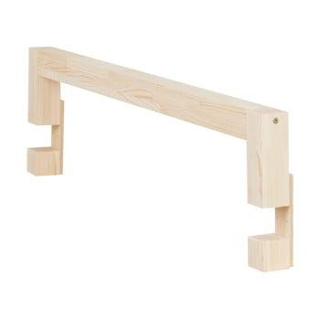 Panou lateral din lemn de molid natural pentru patul Benlemi Safety,lungime90cm