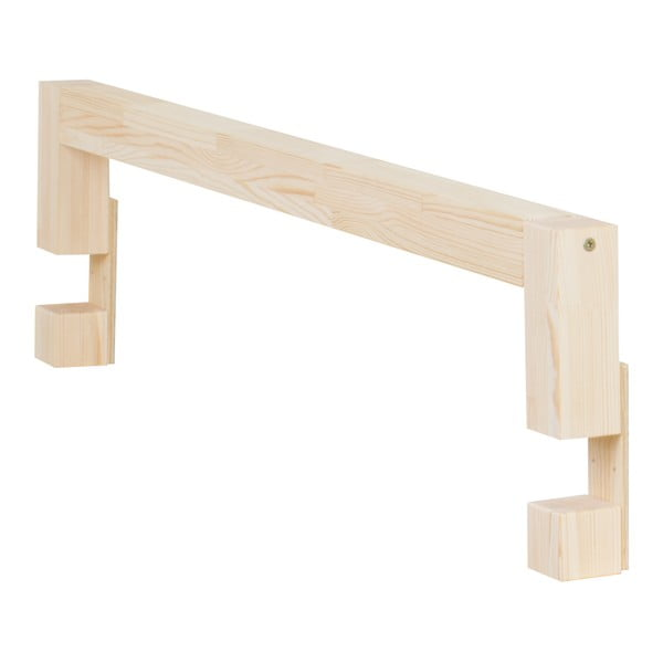 Bočnice z přírodního smrkového dřeva k posteli Benlemi Safety,délka90cm
