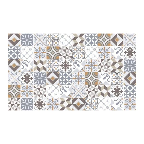 Sada 60 nástěnných samolepek Ambiance Cement Tiles Liliania, 10 x 10 cm