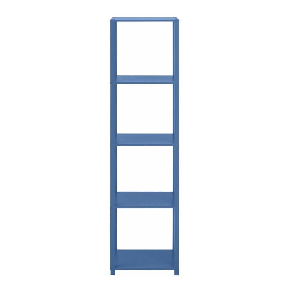 Modrá dřevěná čtyřpatrová knihovna Støraa David
