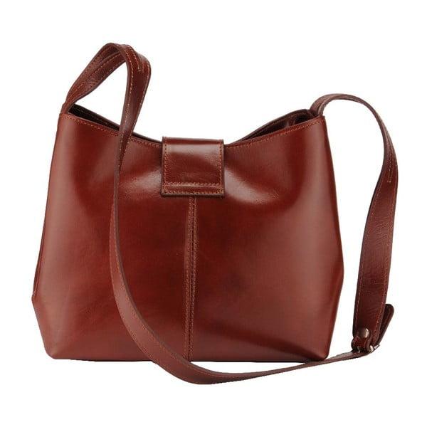 Kožená kabelka Kiwi, tm. hnědá