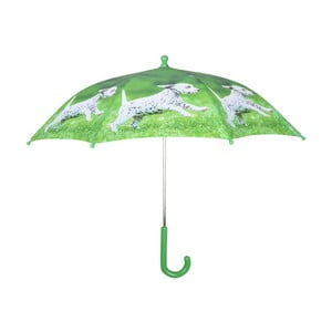 Zelený deštník s potiskem štěňátka Esschert Design Animals