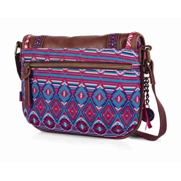 Růžovo-modrá kabelka SKPA-T, 25 x 20 cm