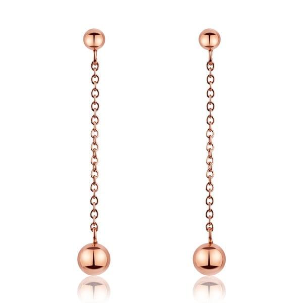 Wiszące kolczyki ze stali nierdzewnej w barwie różowego złota Emily Westwood Smooth