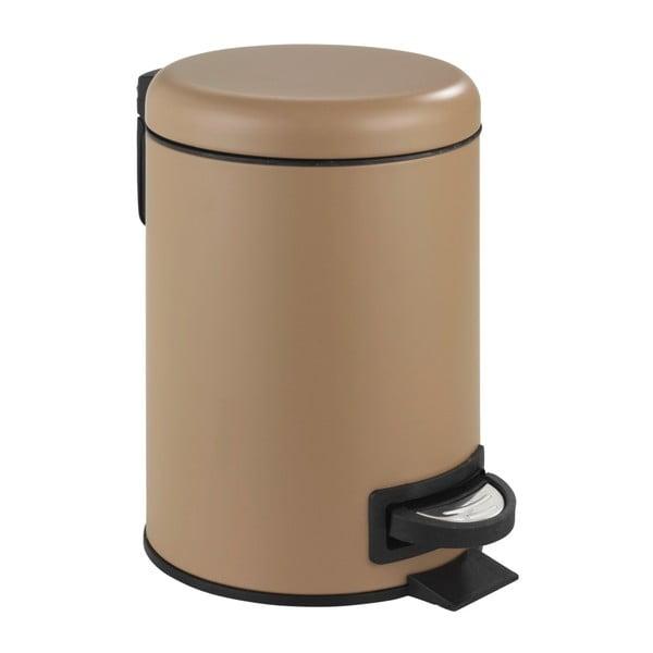 Hnedý pedálový odpadkový kôš Wenko Leman, 3 l