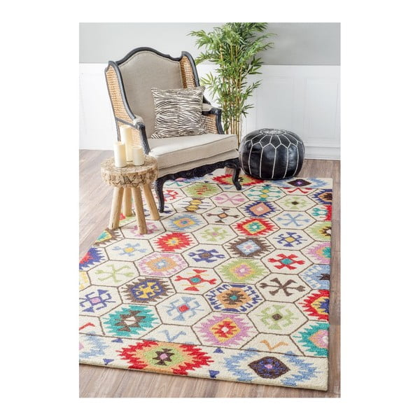 Vlněný koberec Azteco, 152x244 cm