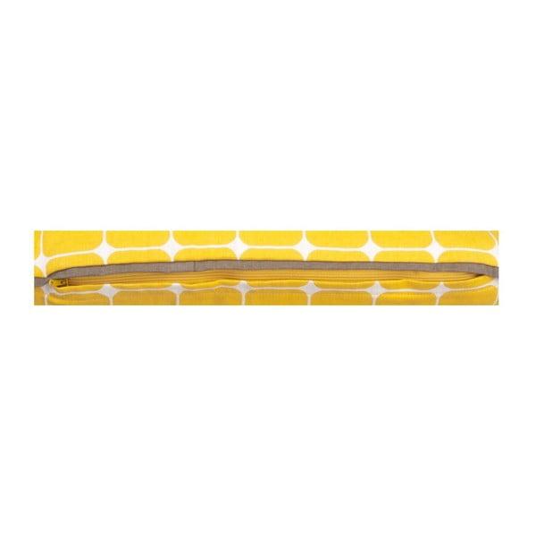 Polštář s výplní Tiles Yellow, 50x30 cm
