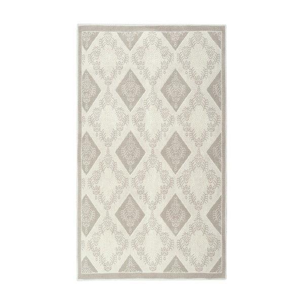 Floorist Fara krémszínű pamut szőnyeg, 150 x 80 cm