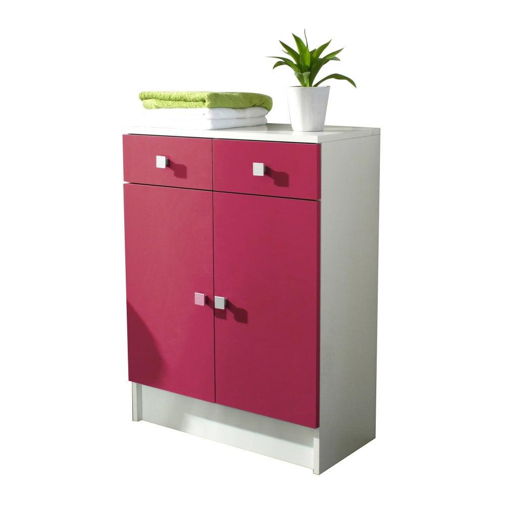Růžová koupelnová skříňka TemaHome Combi, šířka 60 cm