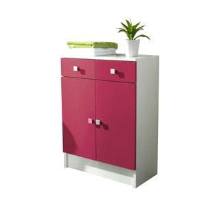 Růžová koupelnová skříňka Symbiosis André,šířka60cm