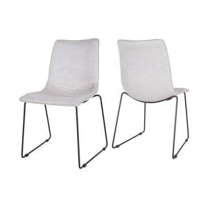 Světle šedá jídelní židle Canett Delta