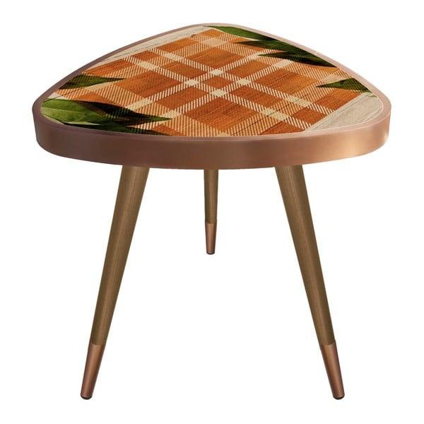 Príručný stolík Maresso Leafes Triangle, 45 × 45 cm