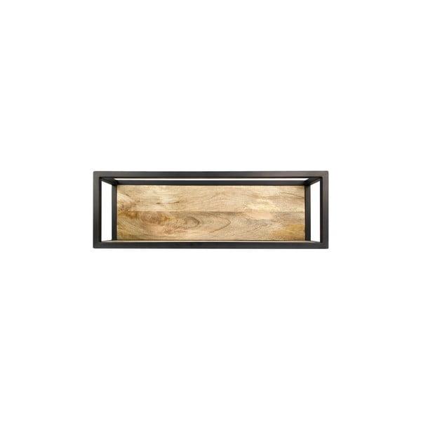 Nástěnná police s detailem z mangového dřeva HSM collection Caria, 75 x 25 cm