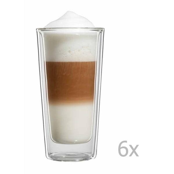 Sada 6 velkých sklenic na latte macchiato bloomix Milano