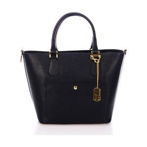 Černá kabelka z pravé kůže Federica Bassi Scherzi