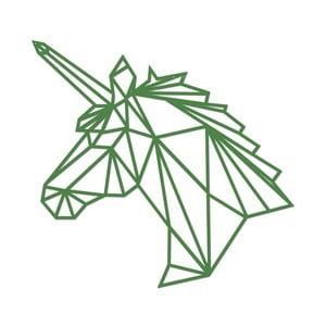 Zelená kovová nástěnná dekorace Wall Decor Unicorn