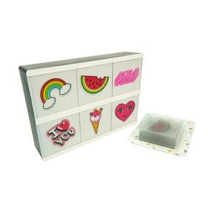Světelný box s 26 znaky Fisura Pins Para Lightbox